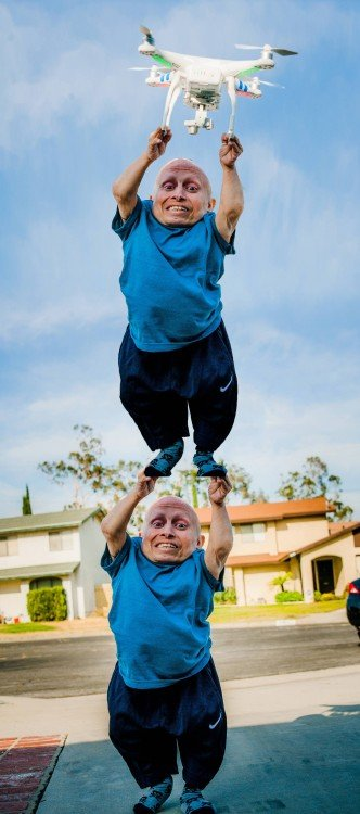 doble, Photoshop Vern Troyer