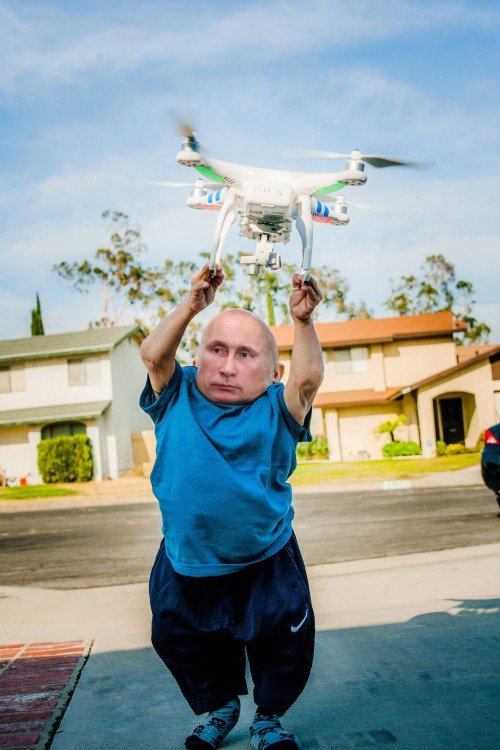 putin, Photoshop Vern Troyer