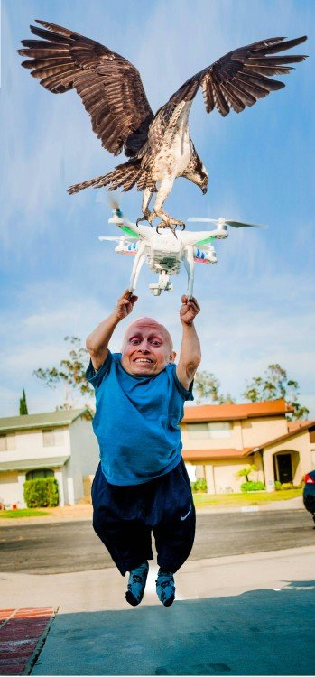 aguila, Photoshop Vern Troyer
