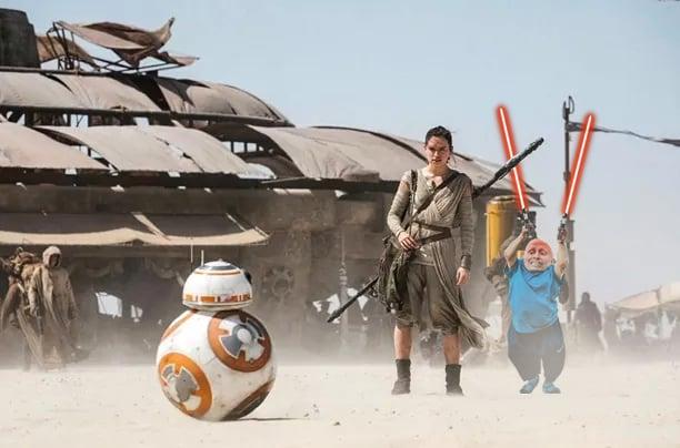 star wars, Photoshop Vern Troyer