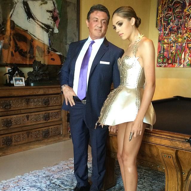 Stallone con su hija Sistine