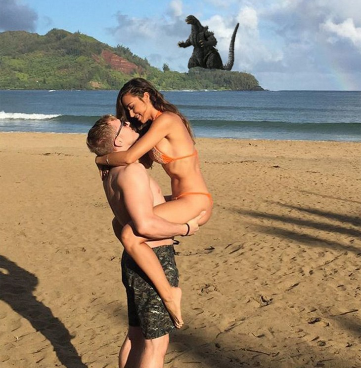 Photoshop para quitar la isla godzilla