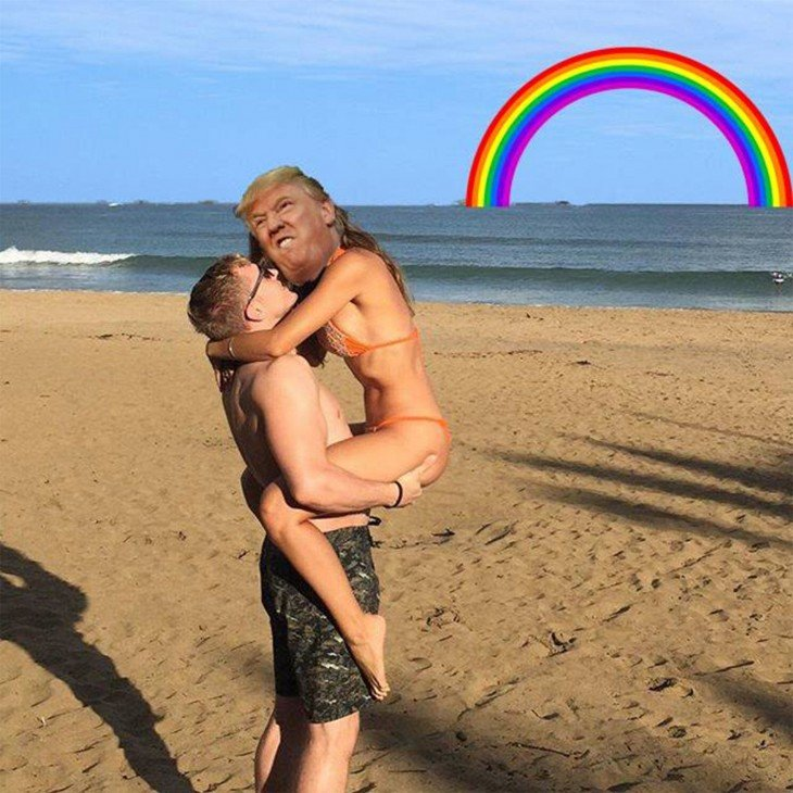 Photoshop para quitar la isla donald trump