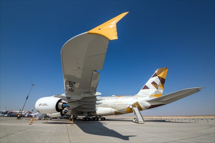 Avión A380 de Etihad Airways
