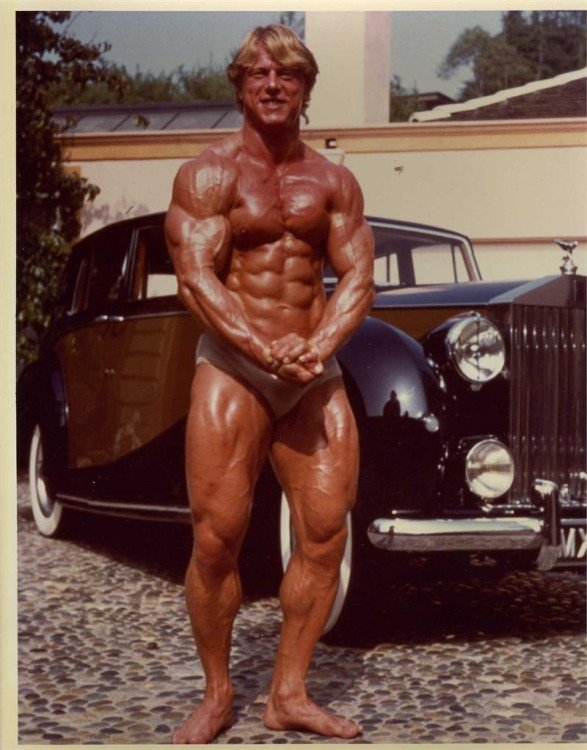 Andreas Cahling fisicoculturista en 1980