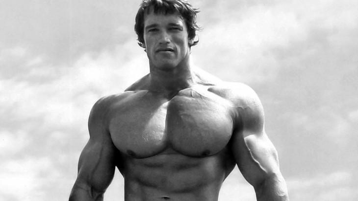 Arnold Scwarzenegger en su juventud