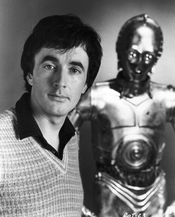Anthony Daniels (C-3Po), 1977 and 2015.