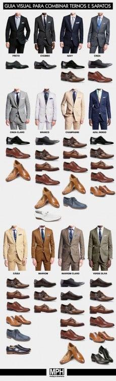 Diferentes colores de calzado para cada traje