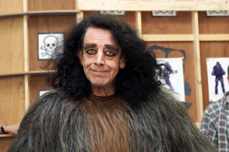 Peter Mayhew out from behind his mask as Chewbacca the Wookiee during the making of STAR WARS: EPISODE III - REVENGE OF THE SITH. © Lucasfilm Ltd. & TM. All Rights Reserved. Photo by Paul Tiller.