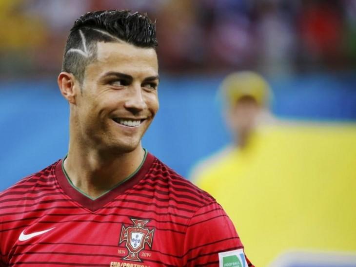 Cristiano Ronaldo sonríe