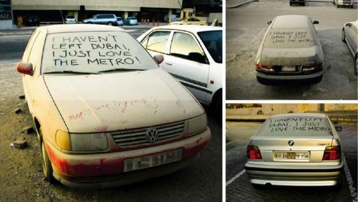 Autos abandonado en Dubai