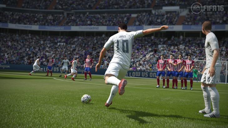 Escena del juego FIFA 16