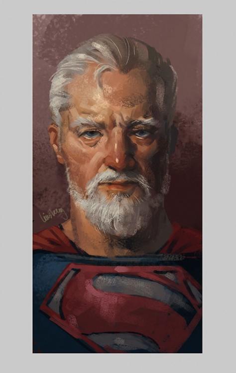 Superman viejo y retirado