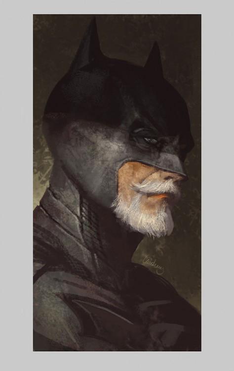Batman anciano y retirado