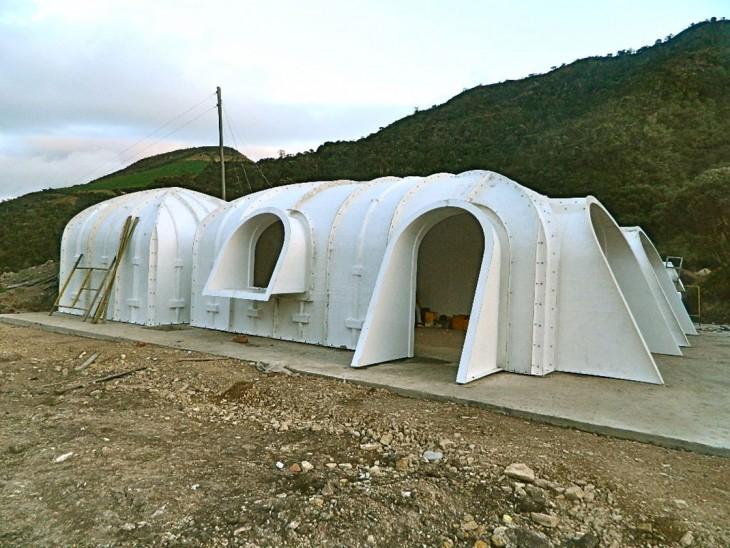Casa de Hobbit prefabricada