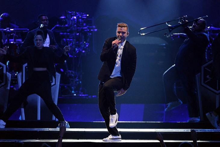 Justin Timberlake durante uno de sus conciertos