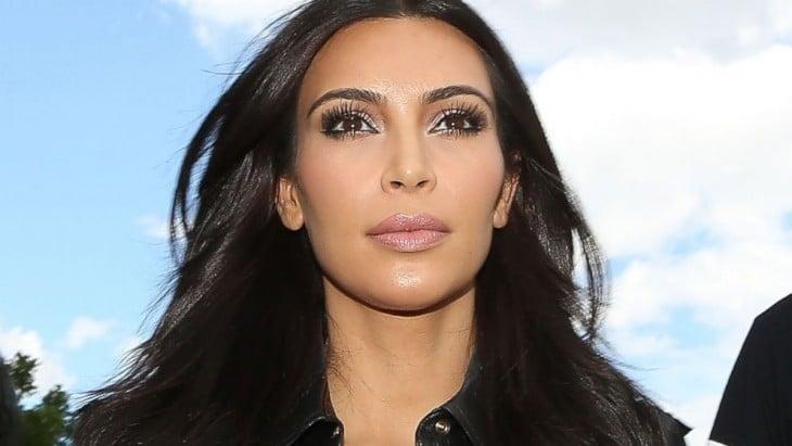 close up a Kim Kardashian