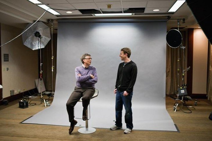 Mark Zuckerberg y bill gates