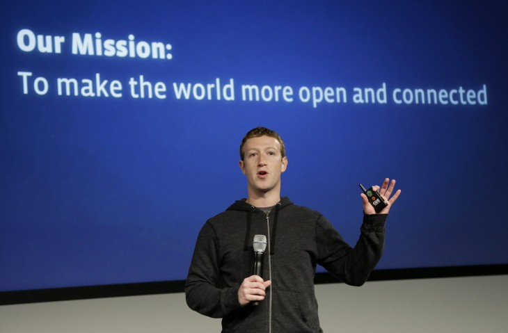 Zuckerberg en una presentación