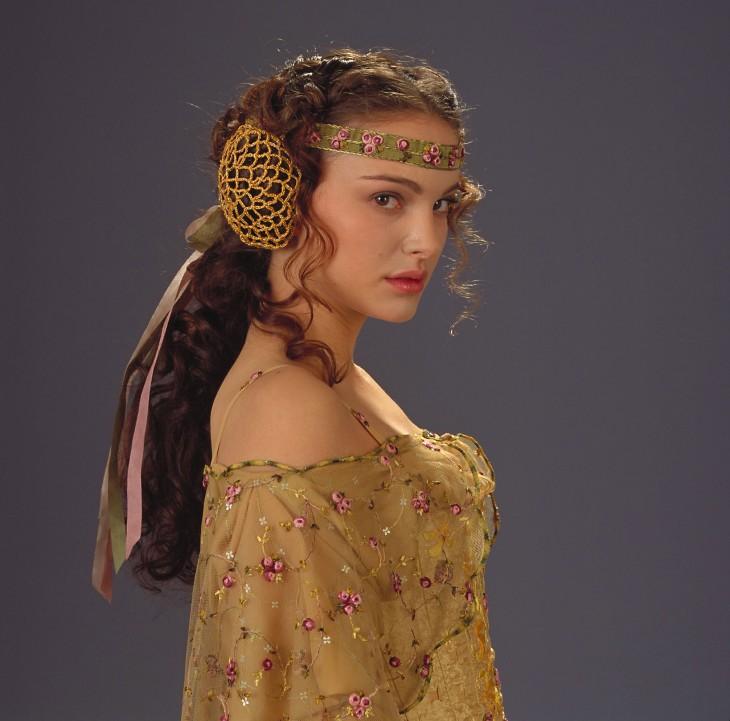 Natalie Portman (Padame Amidala), 2003 and 2015.