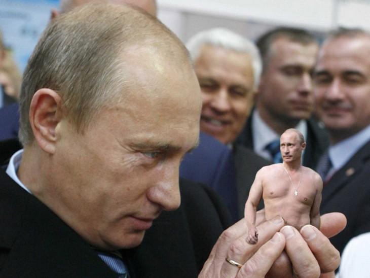 Vladimir Putin en batalla de Photoshop