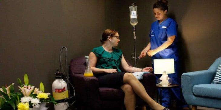 Tratamiento de la resaca en clínica