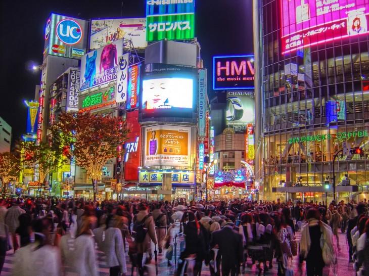 Vida nocturna en Tokyo