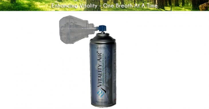 Bote de Vitality Air con mascarilla