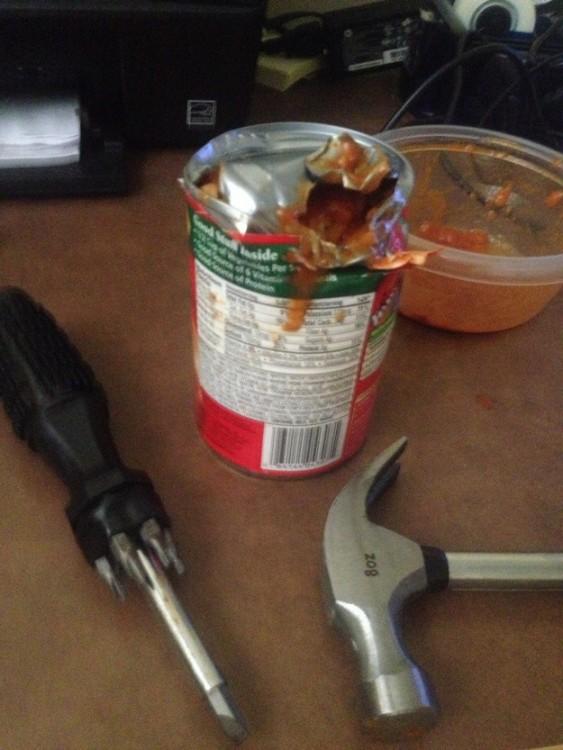 borracho lata de comida fail