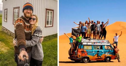 Esta pareja visitó 50 países en su Van y ¡gastando sólo 8 dólares por día!