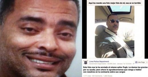 Fugitivo envió una selfie a la Policía porque no le gustó la que estaban usando para buscarlo