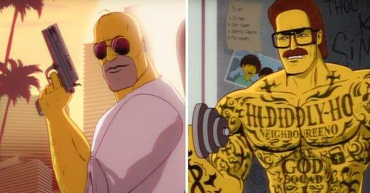 Los Simpson hacen homenaje a Miami Vice ¡y es lo mejor de esta serie en años!