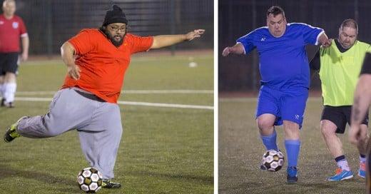 Por fin llegó Man V Fat, ¡la primera liga de futbol exclusiva para gorditos!