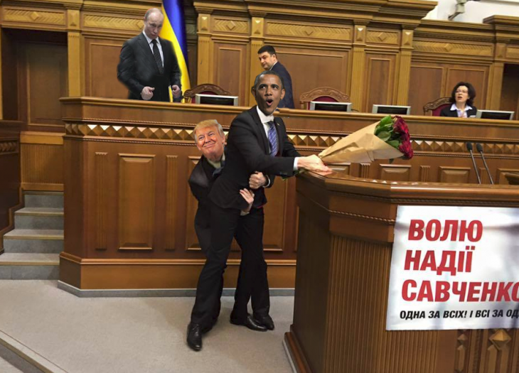photoshop parlamento ucraniano trump obama