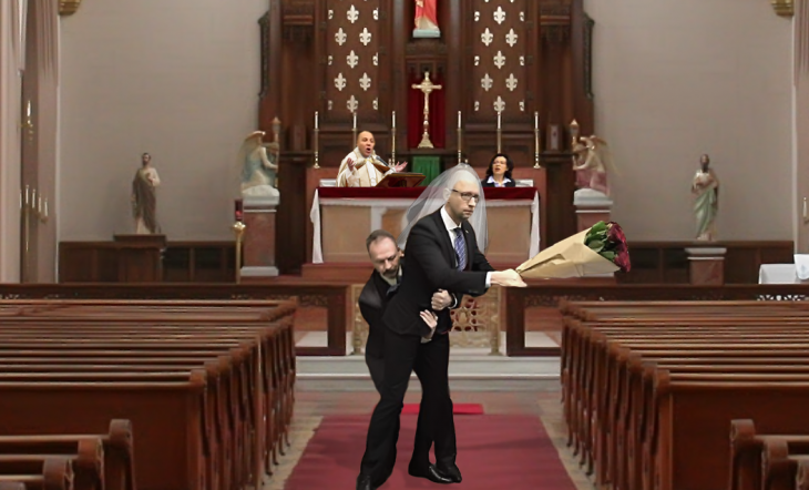 photoshop parlamento ucraniano boda iglesia