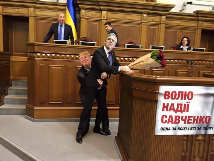 photoshop parlamento ucraniano trump