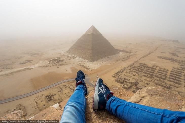 Andrej Ciesielsk en egipto