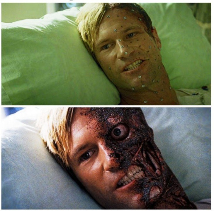 ANTES Y DESPUÉS DE LA PELICULA BATMAN DE dark night