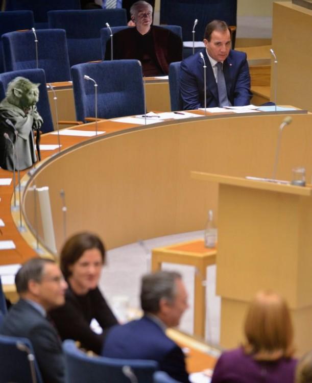 photoshop Primer Ministro de Suecia yoda
