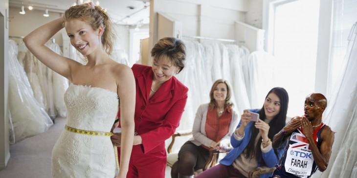 photoshop carrera vestido novia