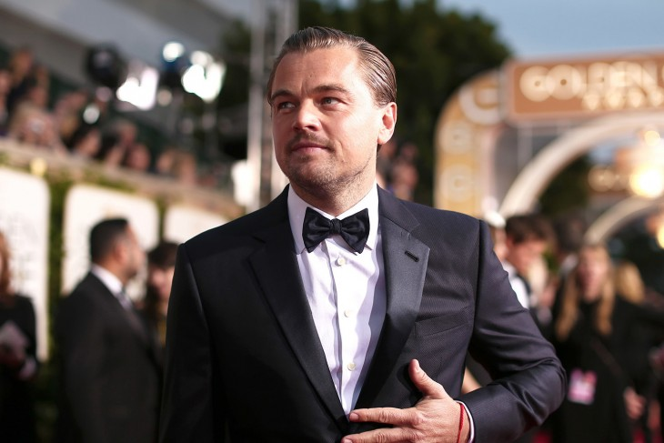Leonardo DiCaprio en los Globo de Oro