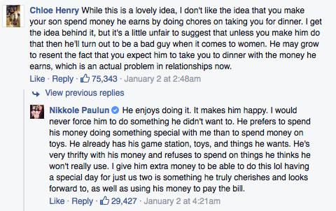 captura de pantalla de algunos comentarios de una publicación
