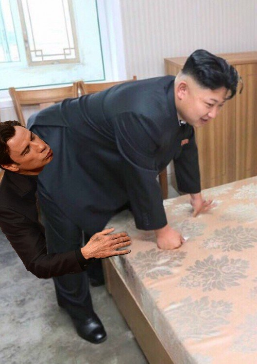 john travolta, Photoshop Kim Jong