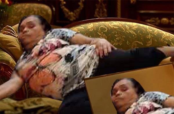 señora se queda dormida, escena titanic