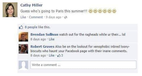 Trolleó cada comentario odiota de su amigo en Facebook