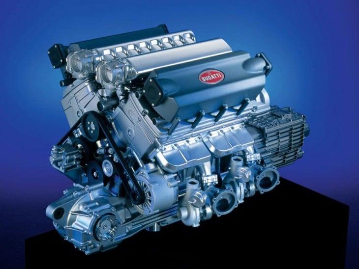 Motor del Bugatti Chiron