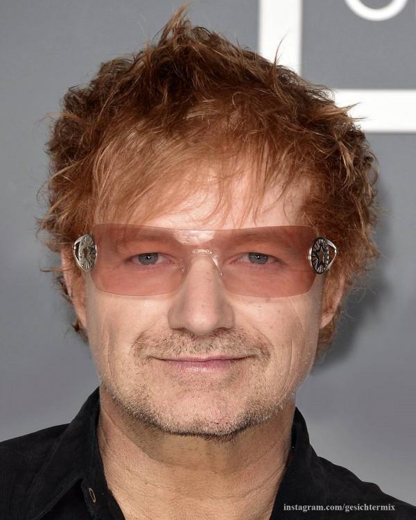 Bono y Ed Sheeran