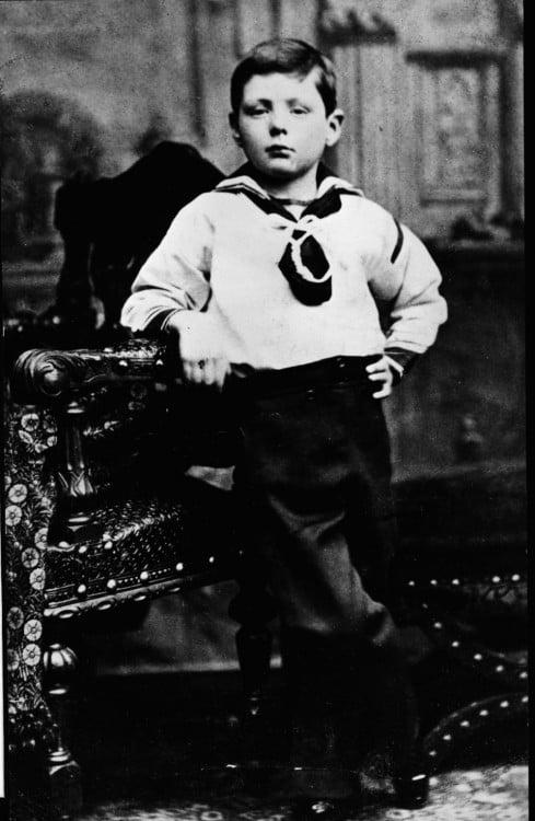 Fotografía de Winston Churchill siendo niño