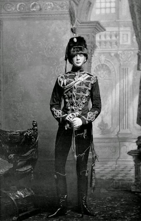 Winston Churchill fotografiado siendo joven