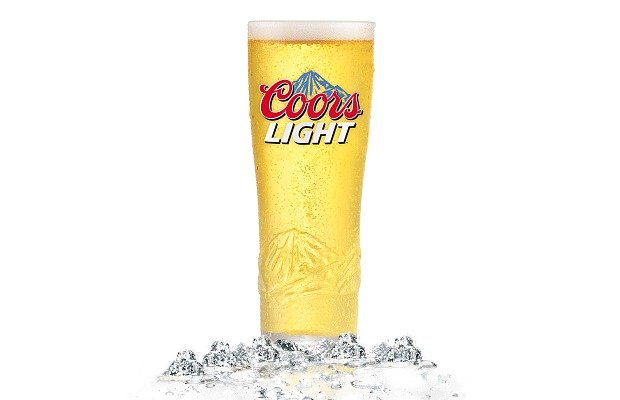 Vaso cervecero de Coors Light